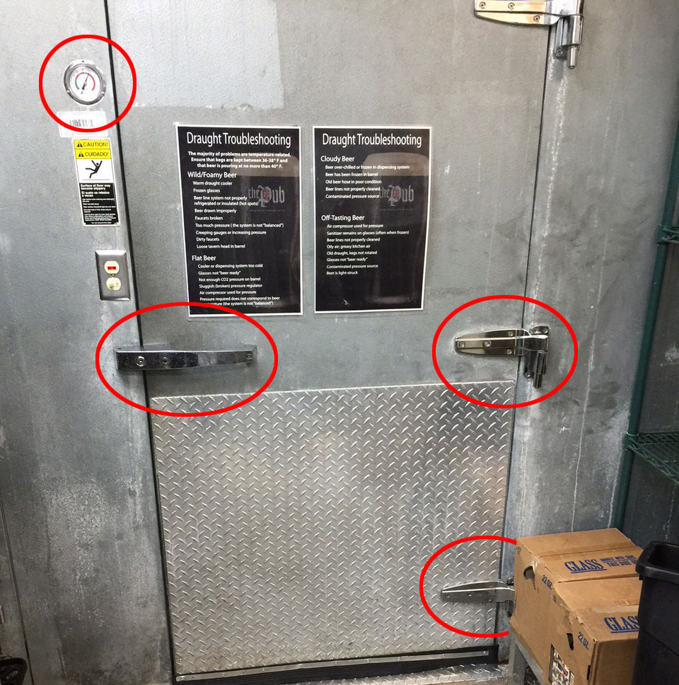 replacement cooler door parts
